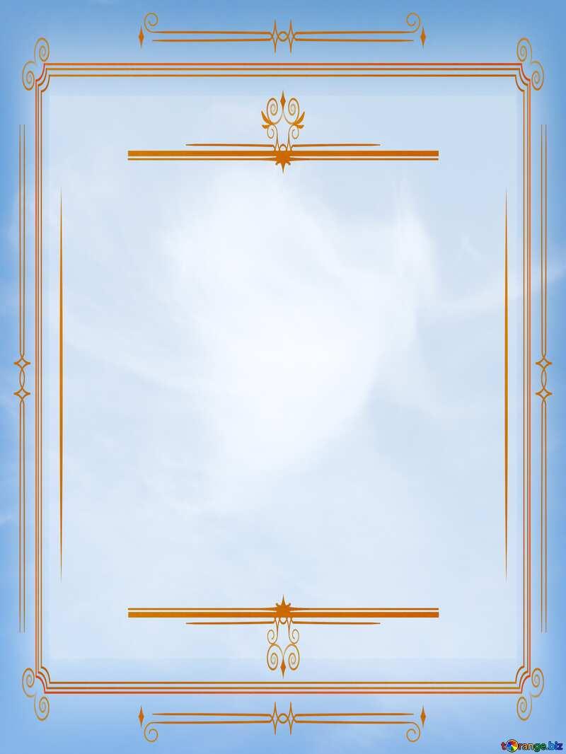 Angels of heaven Blue sky  retro clip art vintage frame №22744