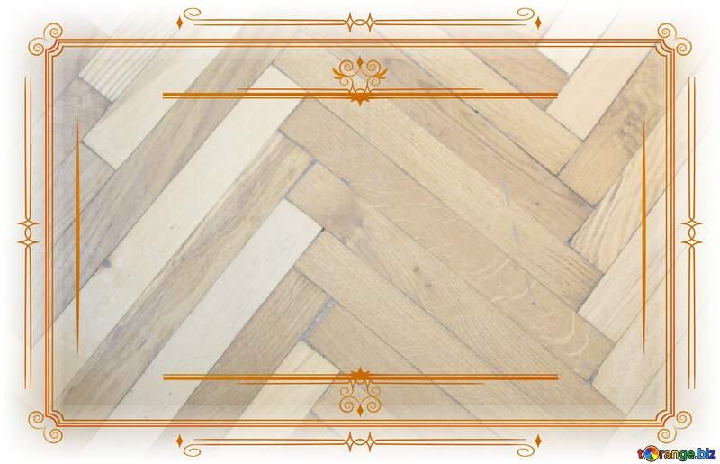 Parquet wooden  Vintage frame retro clipart image №10858