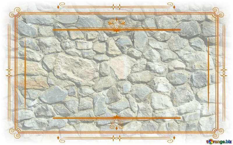 Texture.Stone wall. Vintage frame retro clipart №12748
