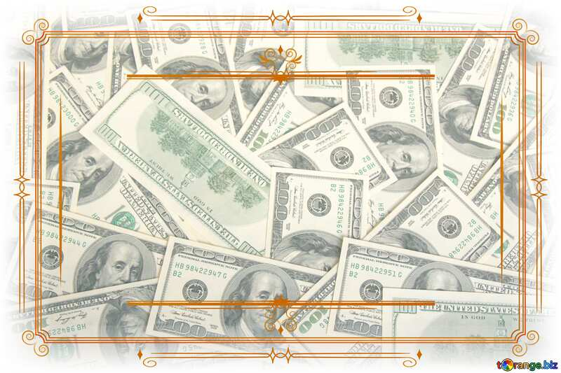 Money Dollars Vintage retro frame clipart №1506