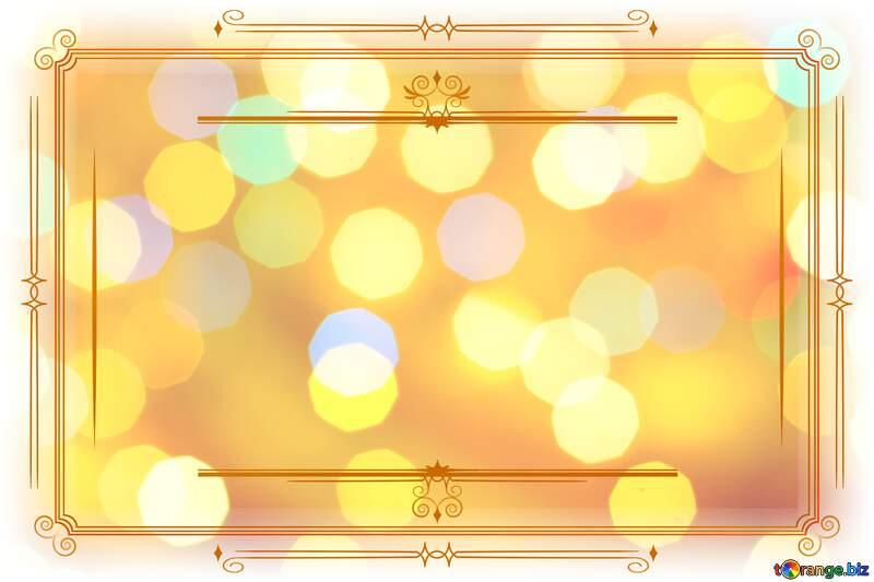 Background of bright lights Vintage frame retro clipart image №24618