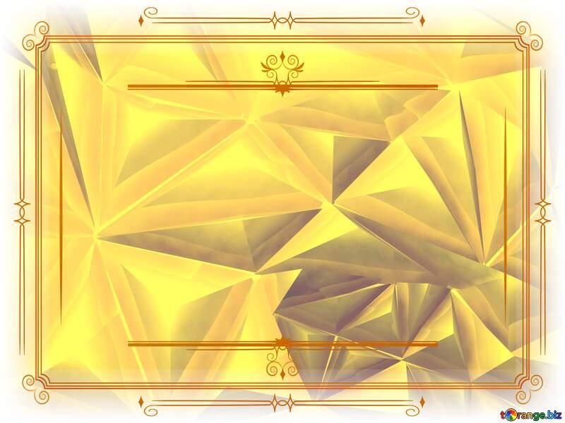 Polygon gold background Vintage frame retro clipart №51586