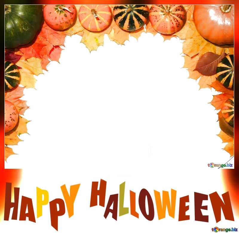 halloween blank pumpkins frame №35178
