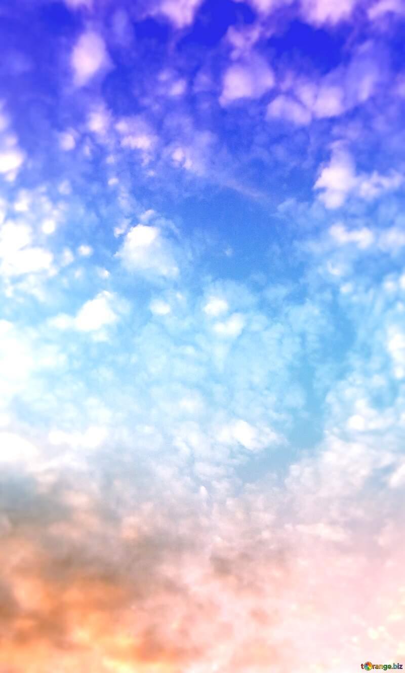 Clouds sky  happy birthday  background №22652