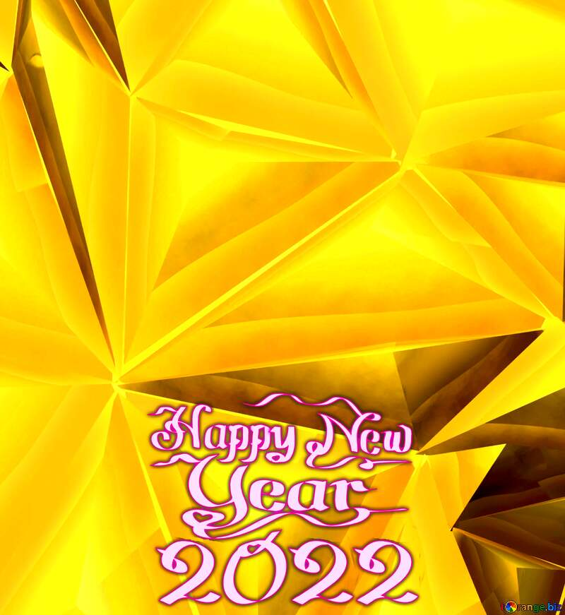 Polygon gold background happy new year 2021 №51586
