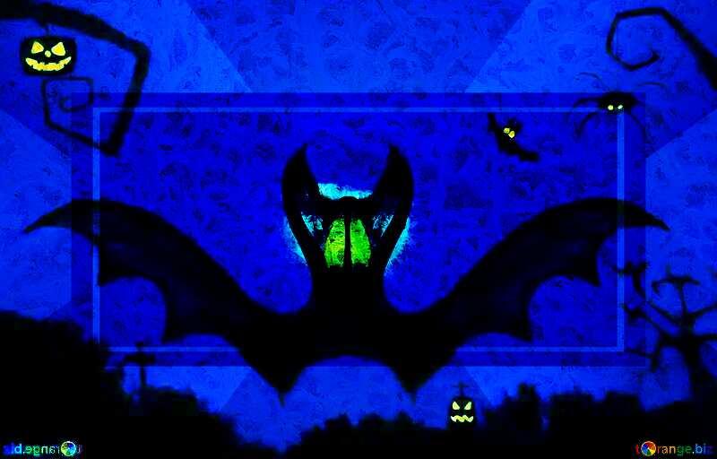 Halloween bat  design responsive banner layout №40467