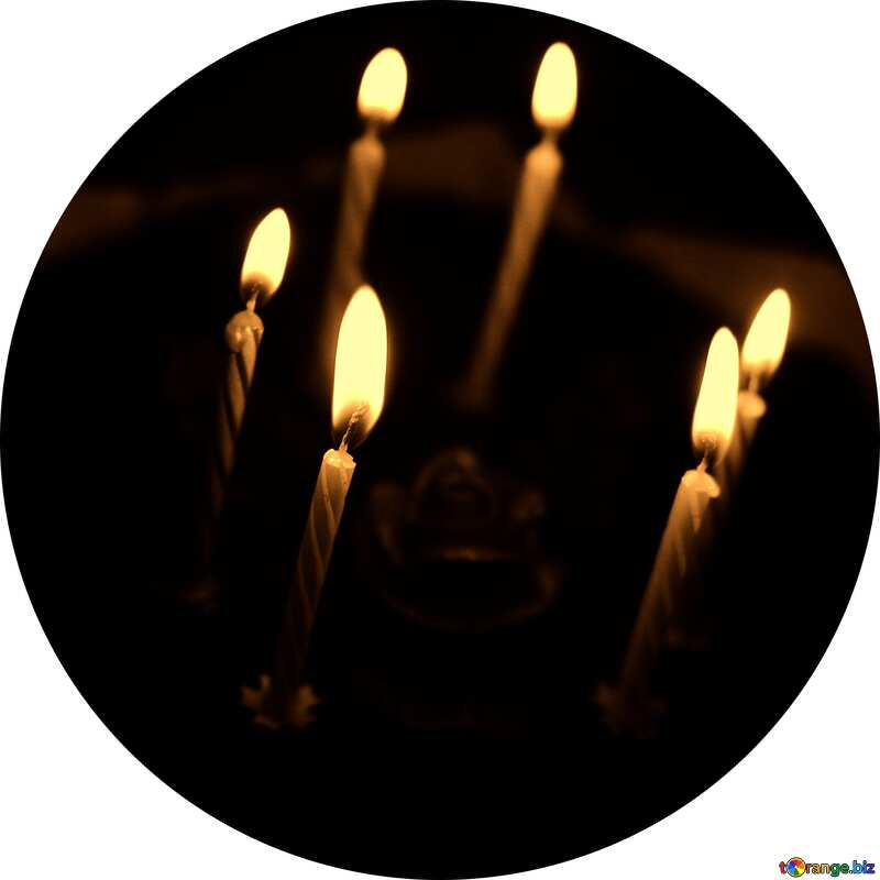 Cake with candles circle frame №27009
