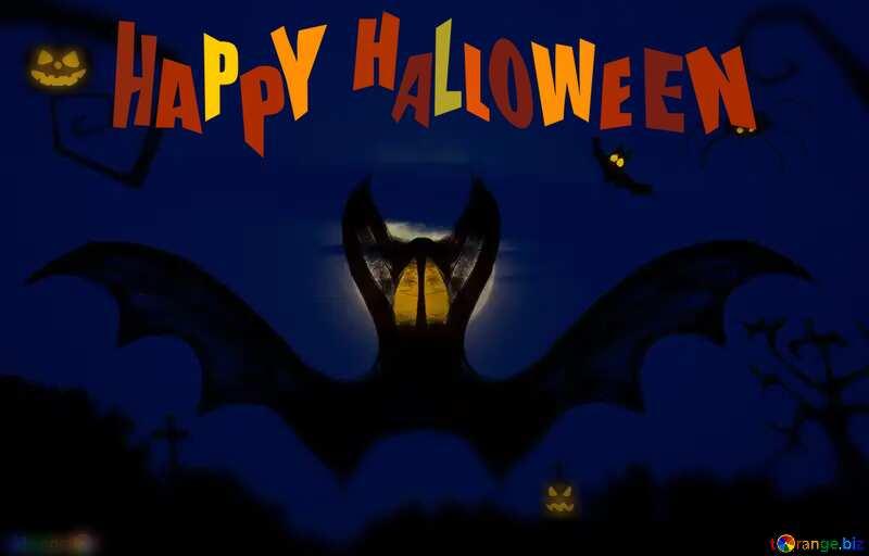 Halloween bat  happy Halloween №40467