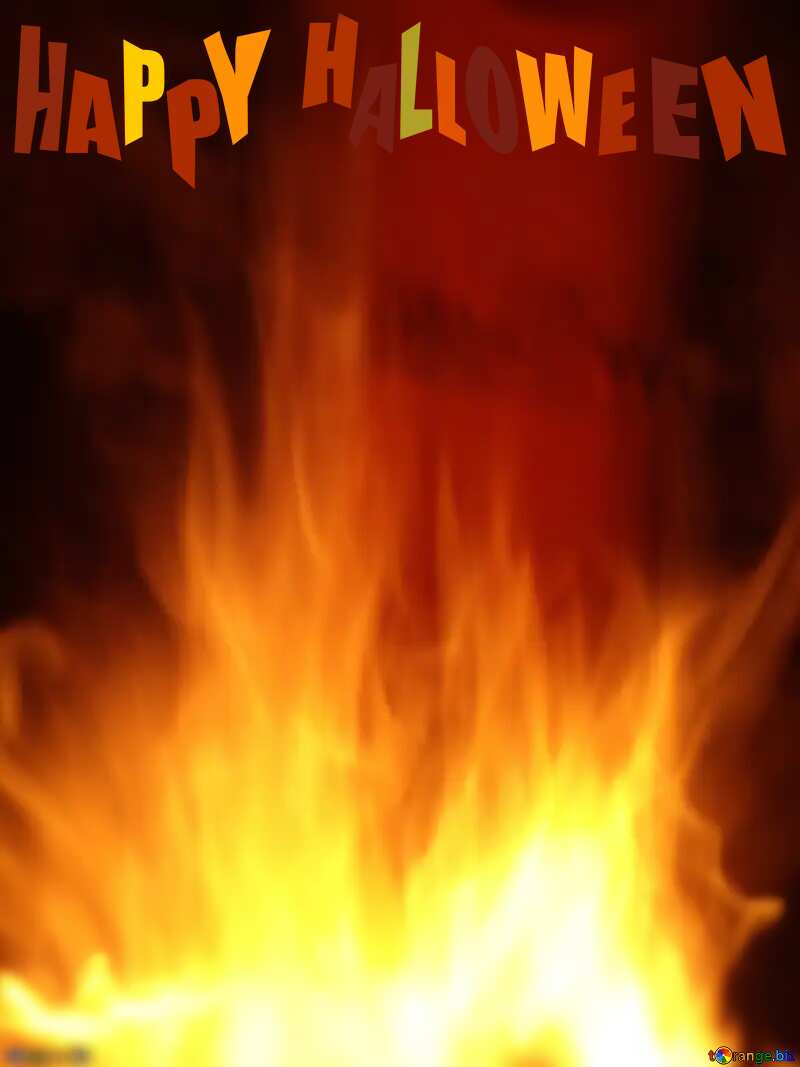 happy halloween Fire background №9546