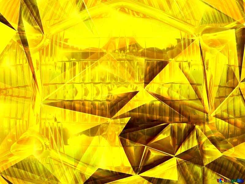 Polygon gold background retro car pattern glass metal №51586