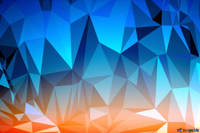 Sunset polygon Gradient triangles background №16062