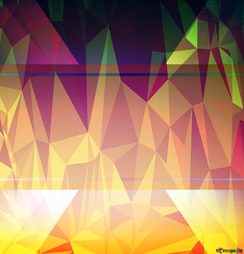 Sunset Gradient Polygonal background template №16062