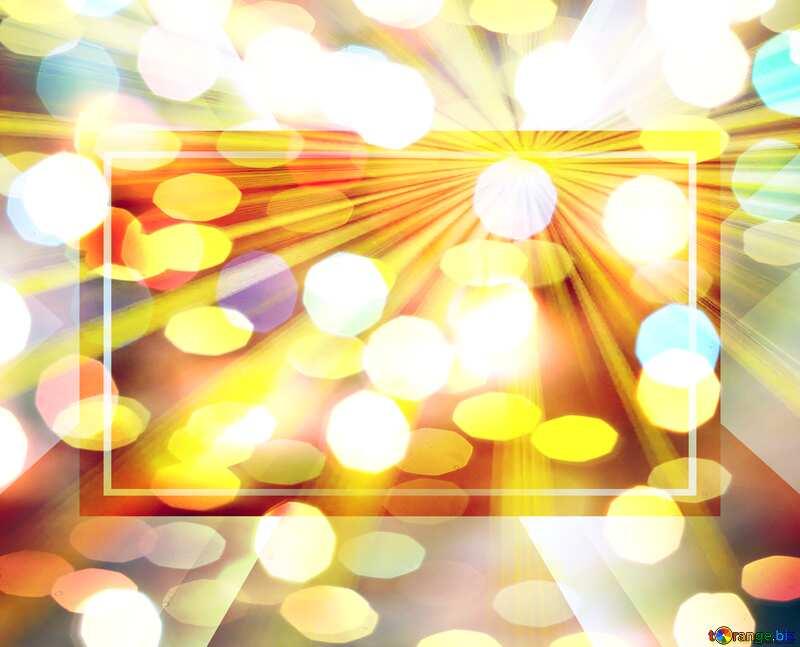 Christmas festive lights template №24617