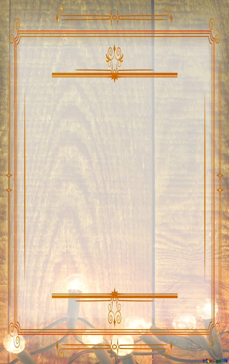 Christmas vertical Ancient paper Vintage frame retro clip art №37891