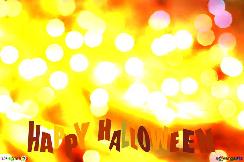 background glitter bokeh  happy halloween №24617