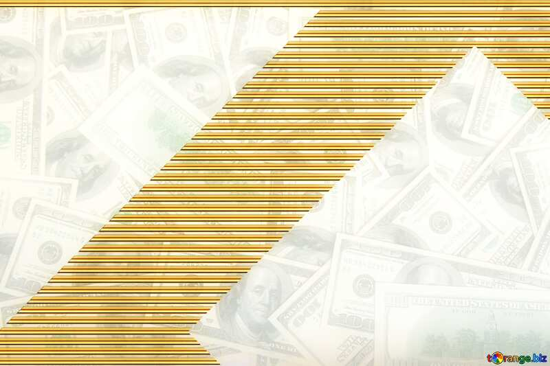 Dollars Gold lines template frame №1506