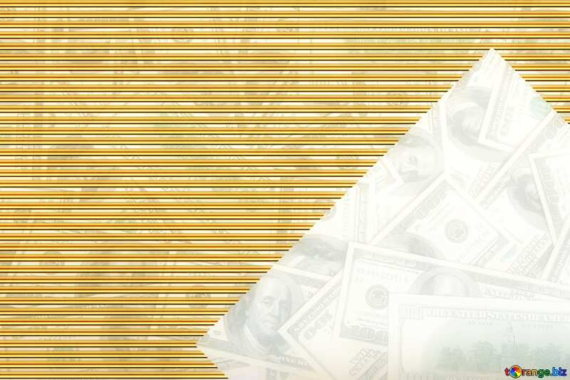 Dollars Gold lines template frame design №1506