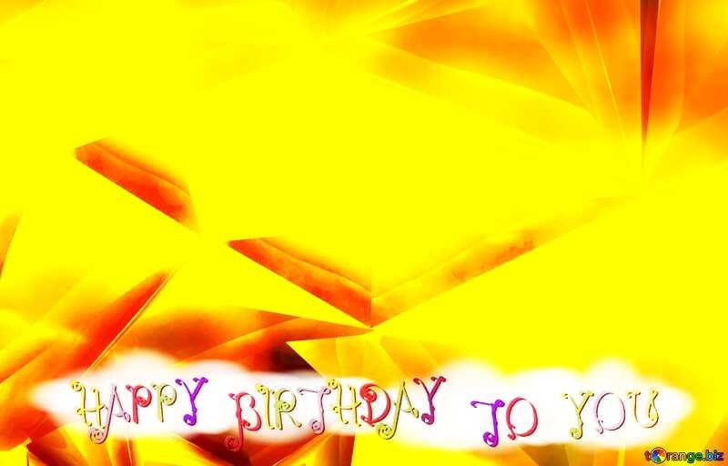 Polygon gold background happy birthday card №51586