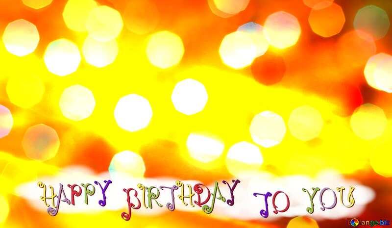 glitter bokeh  background happy birthday card №24617