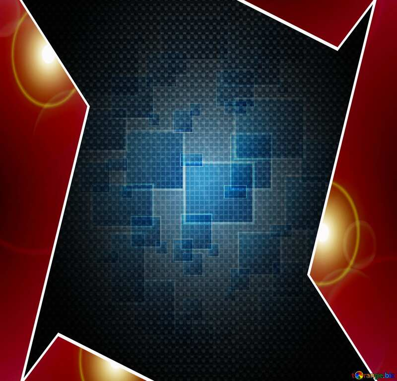 Technology tech background abstract Red carbon hi-tech template №49678
