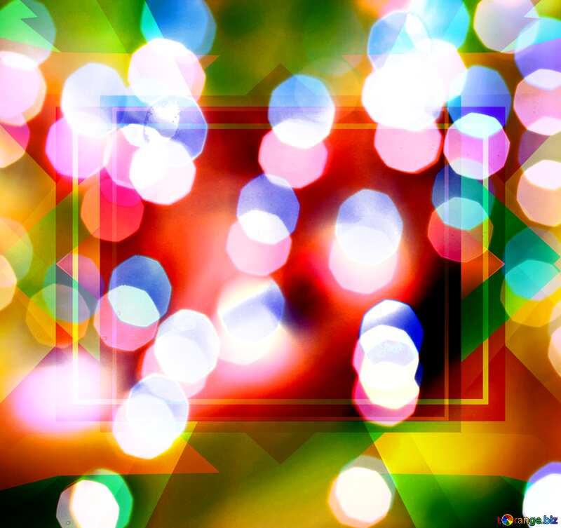 Christmas Bokeh lights template №24617