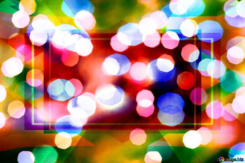 Christmas festive lights background №24617