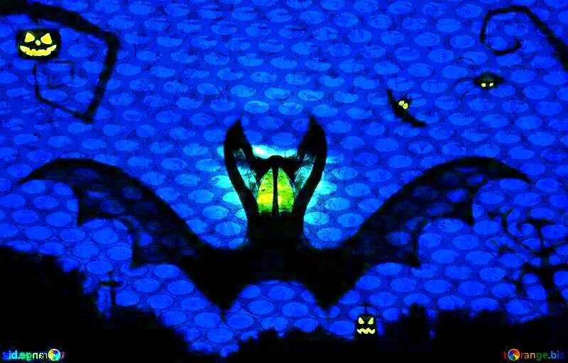 Halloween bat  industry steel hole metal №40467