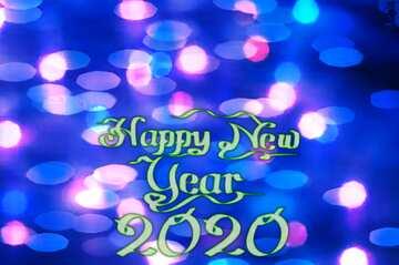 Fragment. Happy New Year 2020.
