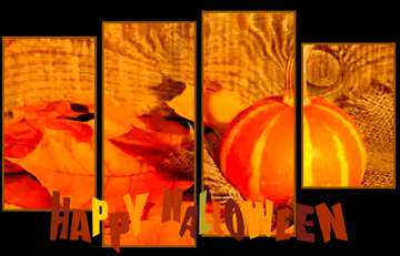 The effect of contrast. Very Vivid Colours. Modular picture with a light background. Happy halloween.