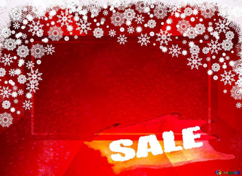 Red Christmas background template sale №40659