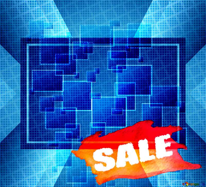 Technology squares abstract sale template №49678