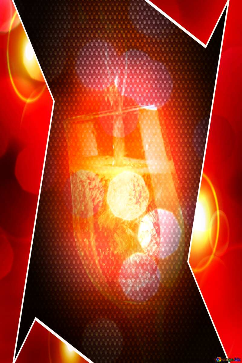 Champagne hi-tech template bokeh background Red carbon №25750