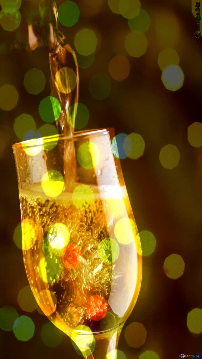 Champagne bokeh background №25750