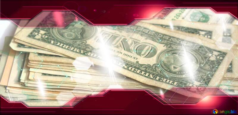 Dollar Technology business concept Hi-tech Elements red background №1496