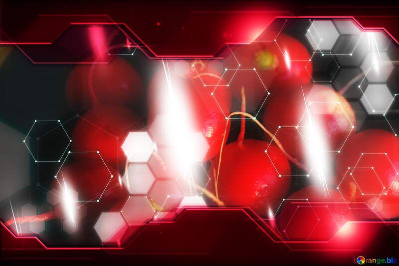 Radish Technology business concept Hi-tech Elements red background №1394