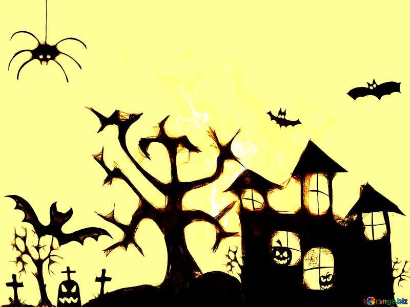 Clipart of Halloween dark sepia №40498