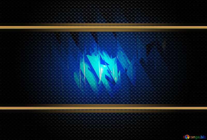 Blue futuristic background. carbon gold frame №51524