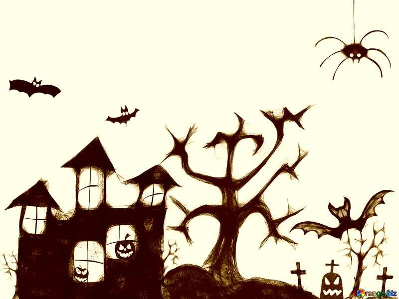Clipart of Halloween sepia light №40498