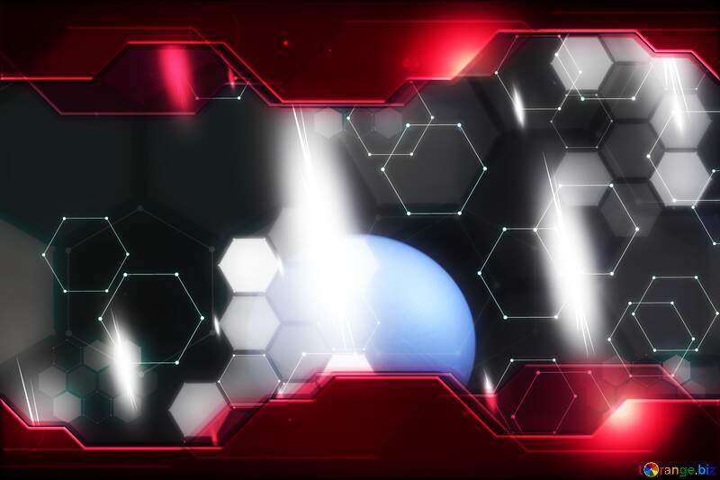Egg in Space Technology business concept Hi-tech Elements red background №1146