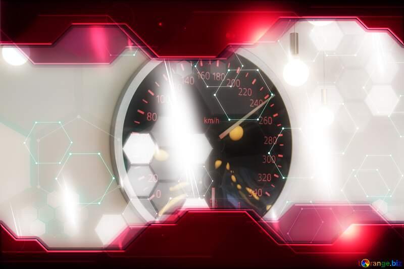 Decorative panels style car shield appliances. Illustration Hi-tech Concept №4427