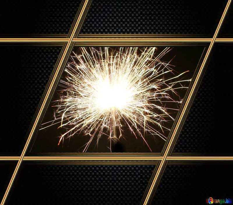 Bright sparks Carbon gold lines frame №25682