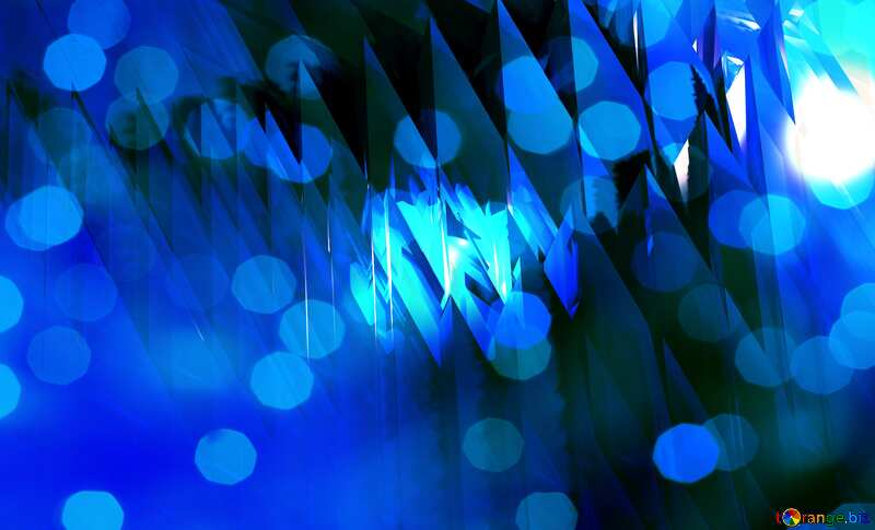 Blue abstract bokeh background. №51524