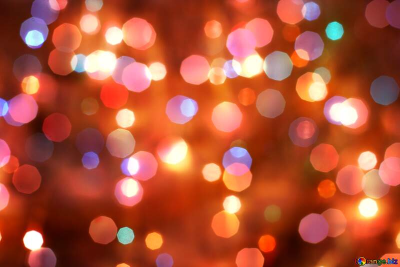 Bright bokeh background for Christmas №24606