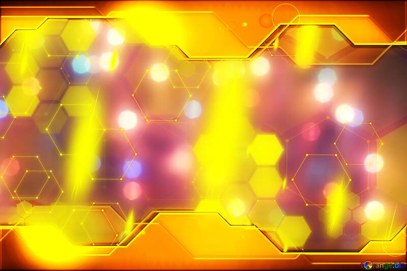 Bright background for Christmas Gold Information Technology concept Hi-tech №24606