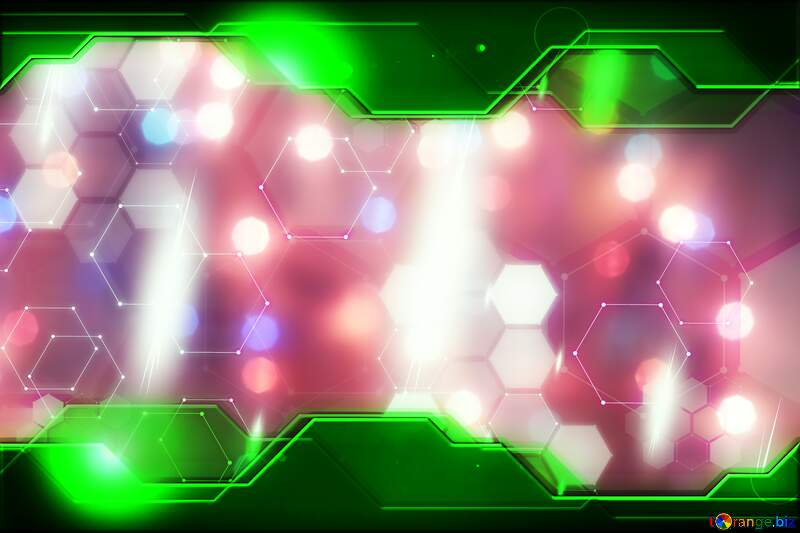 Bright background for Christmas Green Information Technology business concept Hi-tech №24606