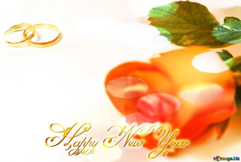 Happy New Year wedding Background №7195