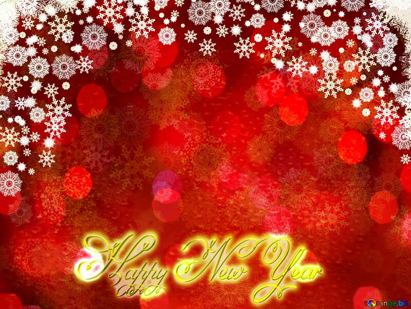 Red Christmas background Inscription text Happy New Year №40659