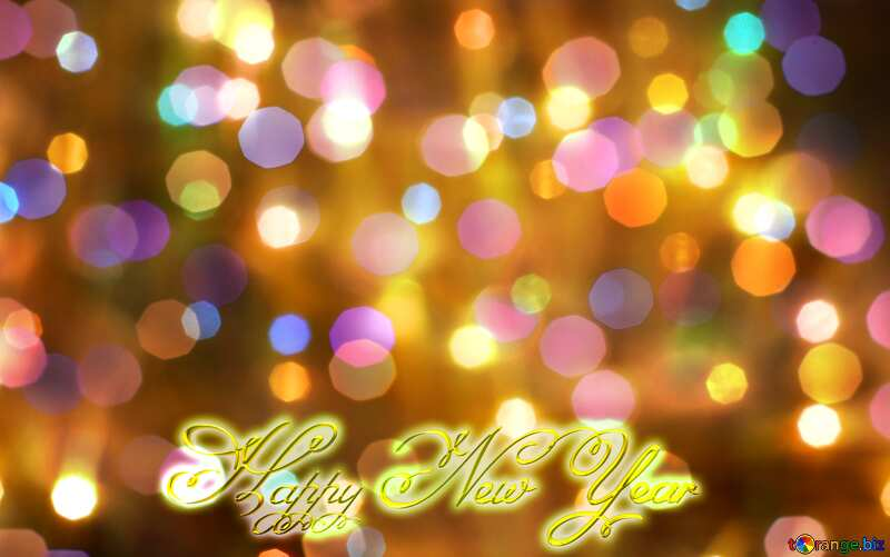 Bright background for Christmas text Happy New Year 3d gold №24606