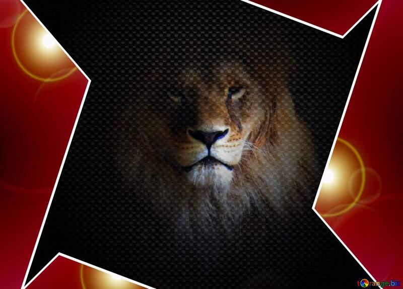 A lion hi-tech template red tech carbon №44974