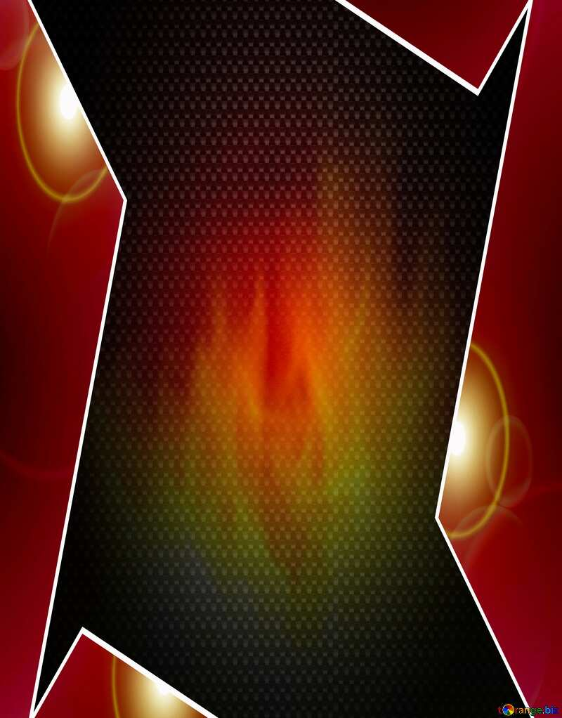 Fire Background. Red carbon hi-tech template №9546